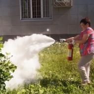 Учения по отработке действий в условиях возникновения пожара